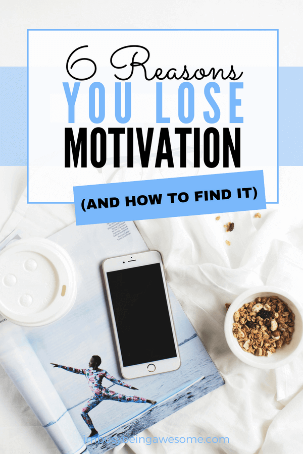 6 reasons you lose motivation and how to find it. Rediscover your motivation. Learn how to boost your motivation and maximize your productivity. #productivity #motivation #boostproductivity #entrepreneur #girlboss #bosslady #getitdone