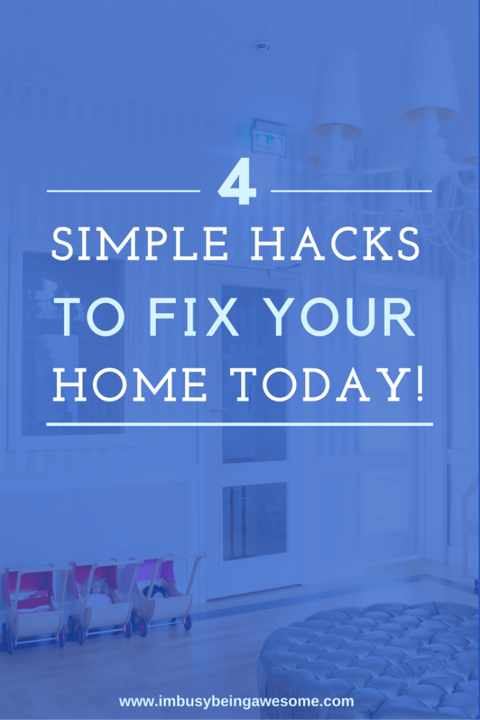 Don't call a handyman - do it yourself! 4 DIY home improvement projects that you can do today! handyman, professional, plumber, electrician, toilet, sink, light, easy, save money #homeimprovement #DIY #savemoney #easy #hack