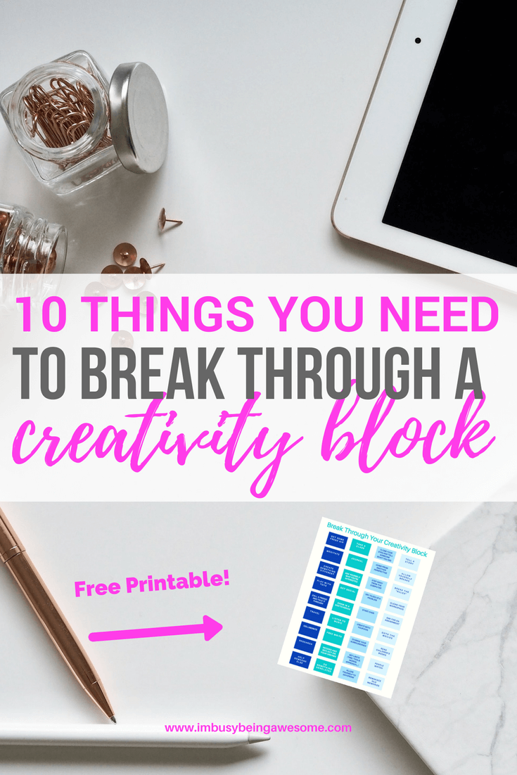 Break Through Your Creativity Block With These 10 Strategies creativity, artist, blogger, writer, create, writer's block, inspiration, motivation, success, entrepreneur, #creativity #artist #blogger #writer #create #writersblock #inspiration #motivation #success #entrepreneur #creativityblock
