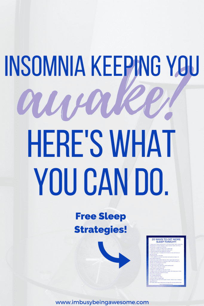 Can't sleep? Here's what you can do to help. #sleep #sleepstrategies #insomnia #8hours #healthyliving #bedtimeroutine #tipsandtricks sleep strategies, tips and tricks, how to get more sleep, how to fall asleep
