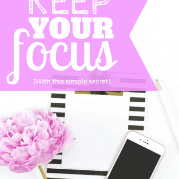 Do you often find yourself distracted? With this life changing secret, you can learn to maintain your focus with this one simple strategy. Use this life hack to boost your productivity and get more done. #productivity #personalgrowth #tipsandtricks #success #motivation #focus #goals
