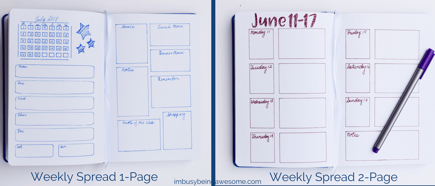 5 Bullet Journal Spreads You Need to Get Organized Are you wondering how to start a bullet journal? Are you looking for the best bullet journal spreads? Do you want to get organized and rock your time management? Then this post is for you! #bulletjournal #bujo #organization #organized #creativity