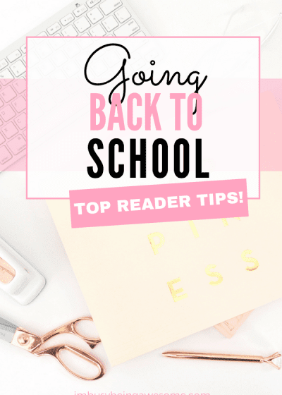 Going Back To School? Here Are The Best Tips For You! Wondering what school supplies you need? Not sure return to your daily routine? Get organized for back to school with these top reader strategies. #backtoschool #parenting #teachers #students #routine #organization