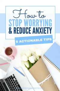 Stop Worrying: 6 Tips You Need to Reduce Anxiety and Stress. Can't sleep? Cant stay focused? These tips will help you calm anxiety and reduce stress . #mentalhealth #stress #personalgrowth #personaldevelopment #lifestyle #lifecoach #entrepreneur #selfhelp #organization