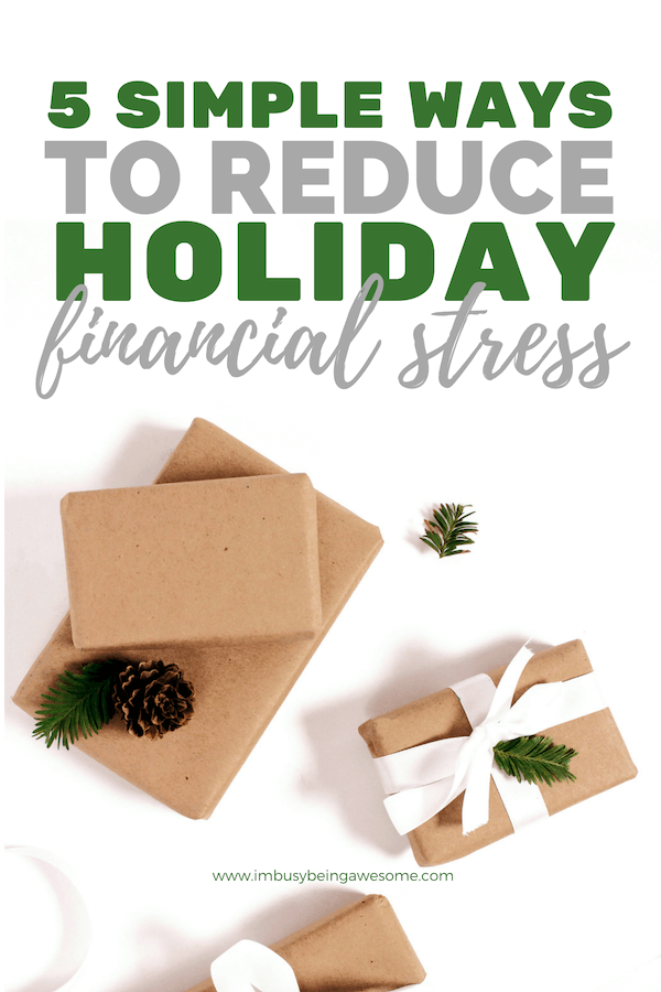 How to Avoid Holiday Financial Stress: 5 Simple Tips Do you deal with holiday stress? Do you worry about saving money or have anxiety about going into debt when Christmas time rolls around? Do you rack up bills on your credit card from buying the perfect presents? It's time to take charge, friend. Follow these 5 simple tips to take control of your finances, practice frugal living, stick to a budget, and still enjoy everything the season has to offer. Let's to this! #finances #stress #holiday #Christmas