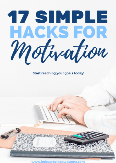 17 Simple Hack For Goal Motivation Are you struggling to reach your goals? Are you searching for inspiration and motivation? Whether you're a college student, an entrepreneur, a business executive, a blogger, or a stay at home mom, these tips are for you. Find goal motivation tips for fitness, work, cleaning, school, weight loss, business, and everything else. If your lifestyle includes goals, you need thee strategies. #goals #motivation #tips