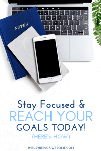 Do you have big goals in your future? Are you working toward major personal, career, or relationship goals this year? Are you struggling with big fitness goals? Then this article is for you. Learn my top 3 tips to stay focused on your goals and see success in no time.