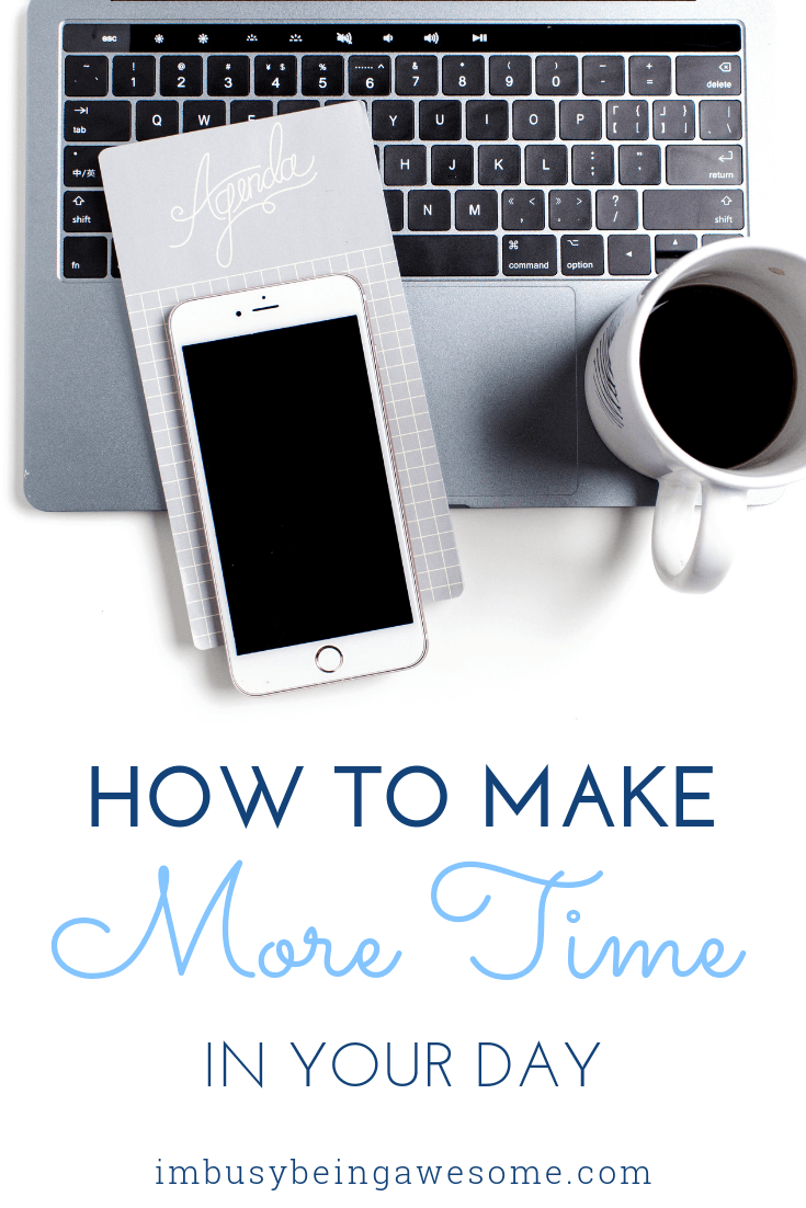 How to make more time in your day. Computer keyboard, coffee, and phone