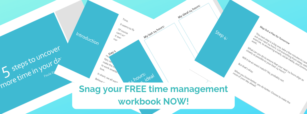 Free time management workbook
