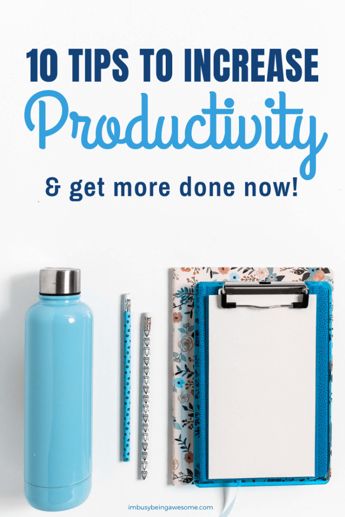 Increase Productivity and get more done now!