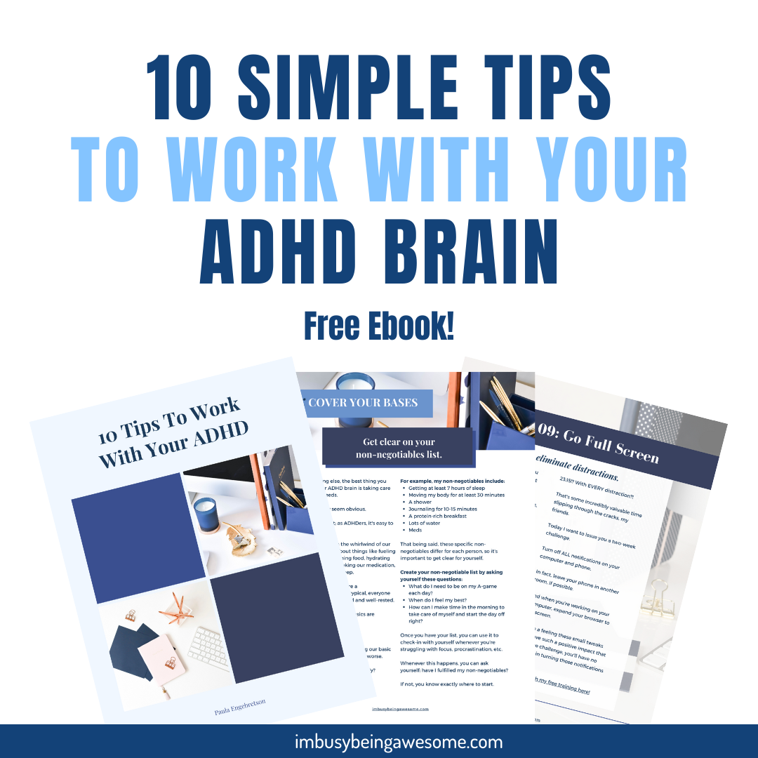 10 tips to work with your ADHD brain