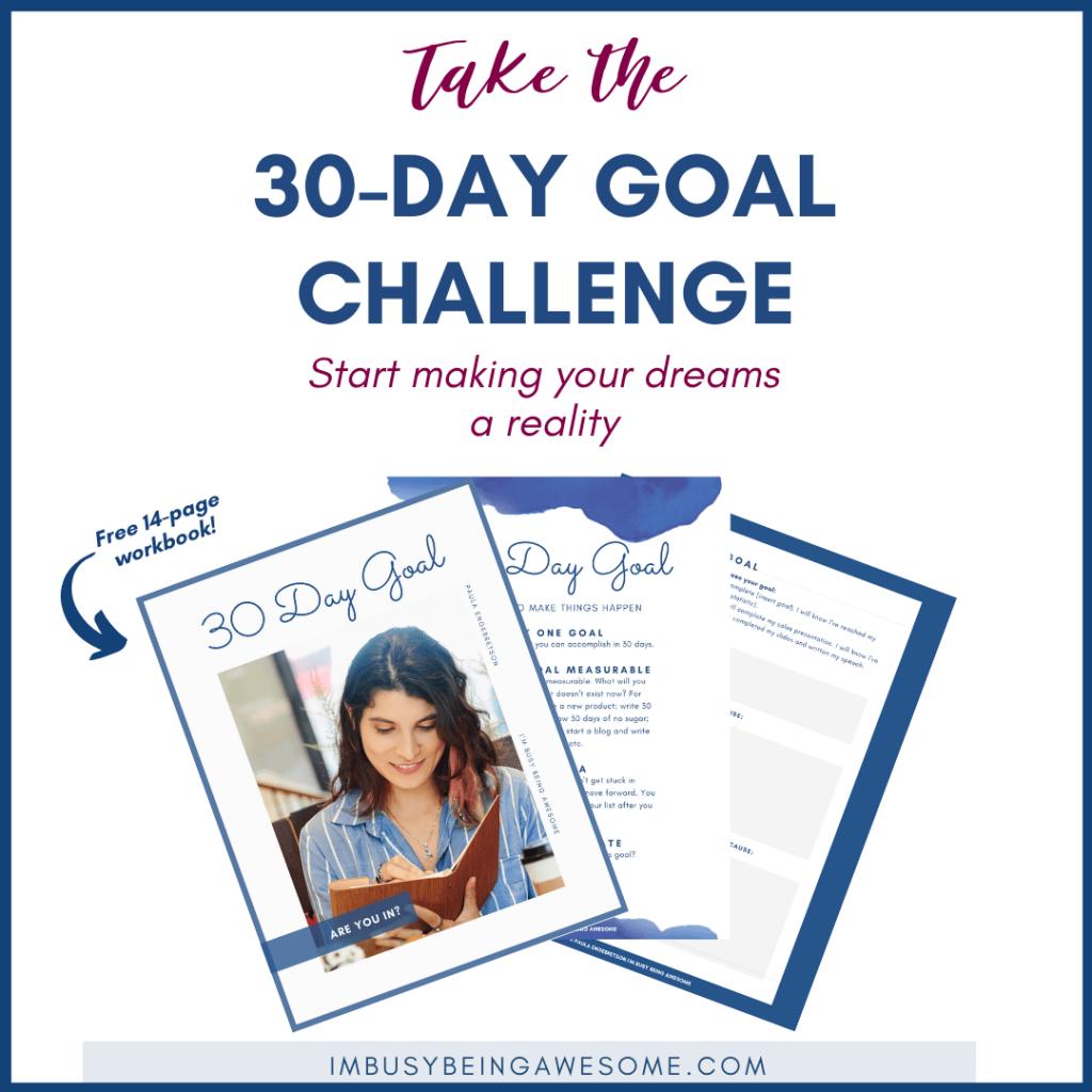 30 Day Goals Challenge